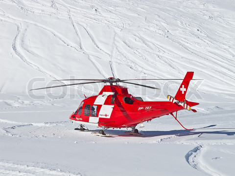 The rescue helicopter